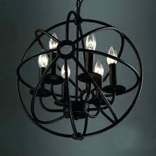 wrought iron sphere chandelier