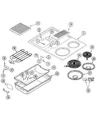 parts for jenn air jedadb cooktop com 03 top assembly parts for jenn air cooktop jed8130adb from com