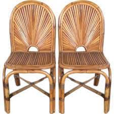 bamboo dining chairs. Eight (8) Gabriella Crespi \ Bamboo Dining Chairs
