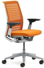 steelcase think office chair. New Steelcase Think Office Desk Chair 3D Knit Tangerine 465A300-5094