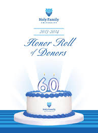 honor roll of donors by holy family university issuu 2013 2014 honor roll of donors