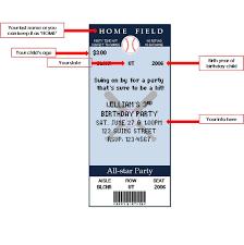 baseball ticket invitations template printable baseball ticket birthday invitations by nickwilljack baseball ticket invitations template dimension n tk