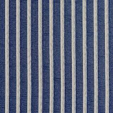 Stripe Designer Fabric Navy Blue Striped Jacquard Woven Upholstery Fabric By The