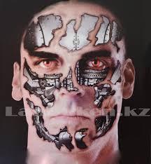 временная татуировка на хэллоуин железное лицо продажа по выгодным ценам с