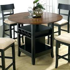 counter height table round black high round dining table full size of room bar height with