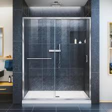 DreamLine Infinity-Z 56-in to 60-in W Frameless Chrome Sliding Shower