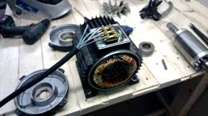 electric motor disembly to change bearings