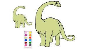 khủng long cổ dài   vẽ tô màu cùng bạn bút chì   học và chơi   Khủng long,  Bút chì, Khung