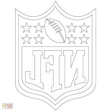 Nfl Logos Coloring Pages Hk42 Nfl Logo Coloring Page Free