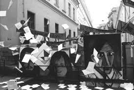 Художественный журнал Политтехнология формы или Мимесис  Внеправительственная контрольная комиссия Баррикада посвящается событиям 1968 года в Париже Большая Никитская улица Москва май 1998