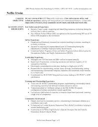 Law Enforcement Resume Samples Objective Format Student Template