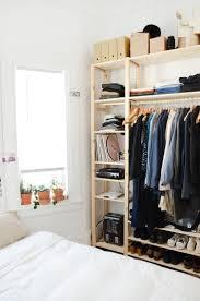 Open Closets Small Spaces Best 25 No Closet Bedroom Ideas On Pinterest No Closet