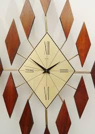 superb midcentury wall clock  mid century modern atomic wall