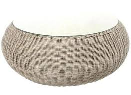 white wicker coffee table round wicker coffee table