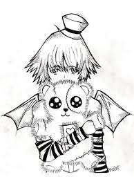 Small Picture Emo Coloring Pages Emo Anime Coloring Pages nebulosabarcom