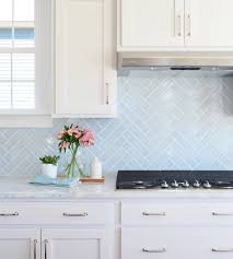 white kitchen backsplash ideas. Beautiful Backsplash Blue Herringbone Backsplash Throughout White Kitchen Ideas A