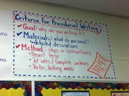 Procedural Writing Anchor Chart Teaching Writing