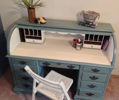 painted office furniture.  Office Vintage Roll Top Desk Home Office Painted By VintageHipDecor Throughout Furniture