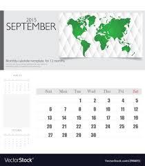 Simple 2015 Calendar Simple 2015 Calendar September Royalty Free Vector Image