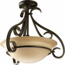 progress lighting torino collection 3 light forged bronze semi with regard to progress lighting torino