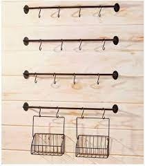 Frequent special offers and discounts up to 70% off for all products! Amazon Com 6 Pc Wall Mounted Coffee Mug Rack Holds 12 Mugs Steel