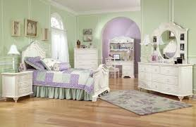 5 Piece Luxury Girls Bedroom Sets With Floral Rug