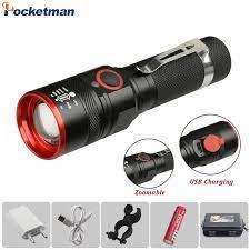 6000 Lumens Đèn Pin Sạc USB T6 LED Đèn Pin Đèn Pin Đèn Đèn Lồng 18650 ĐÈN  LED Chống Nước Xe Đạp Đèn Led Nhôm|LED Flashlights