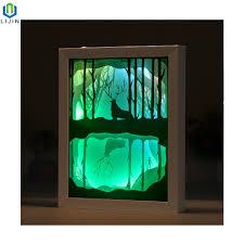 3d Photo Light Box Hot Item Papercut Light Boxes 3d Shadow Box Night Lamp With Led