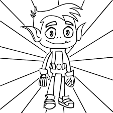 Small Picture Teen Titans Go Beast Boy Coloring Pages Wecoloringpage