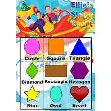 Shapes Chart Images Personalised Kids Shapes Chart Personalise It Products