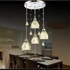 dutti led chandelier three european style restaurant lights crystal dining room chandelier modern minimalist creative single head bar lamp lotus disc 4 head