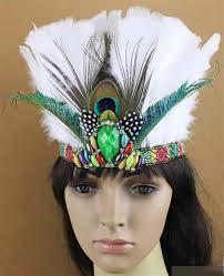 diy indian war feather headdress women hairband headband cap hair accessories handmade