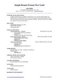Resume For New Nurse Custom Sample Resume New Graduate Nurse