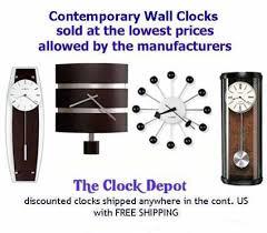 movado large contemporary wall clock