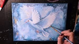 white dove paintSPEED PAINTING  White Dove  Acrylic on Canvas  YouTube