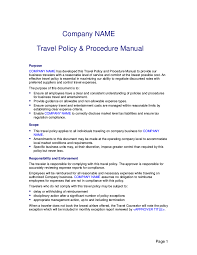 Travel Policy Template 24 Travel Policy Examples Samples 1