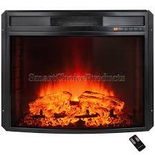 detail 28 insert free standing electric fireplace firebox heater logs glow flame