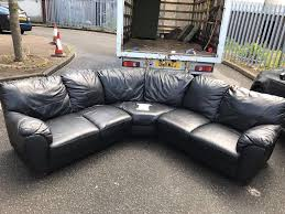 Living Room Furniture Belfast Dfs Black Leather Corner Group Sofa Alb325 Delivered Free In Belfast