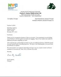 Format For Sponsorship Letter Delectable Example Of Thank You Letter For Donation To School Lezincdc
