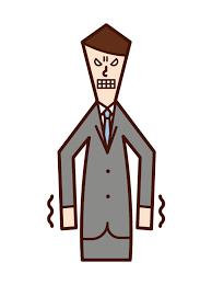 イライラする人・嫌悪感を抱く人(男性)のイラスト | フリーイラスト素材 KuKuKeKe(ククケケ)