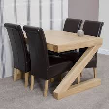 dining table 4 chairs z solid oak designer furniture dining table and four chairs set