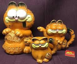 Garfield Cookie Jar New VINTAGE ENESCO GARFIELD Cookie Jar Teapot Creamer By Jim Davis