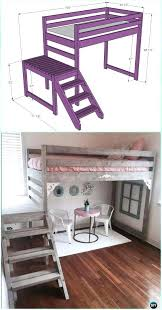 diy bunk bed with stairs camp loft bed with stair instructions kids bunk bed free plans diy bunk bed