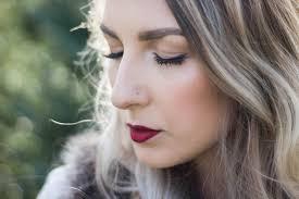 holiday makeup look red lips natural eyes