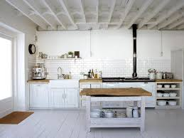 Wide open, white, rustic kitchen Ideas and inspirations to your new home  homeidea.