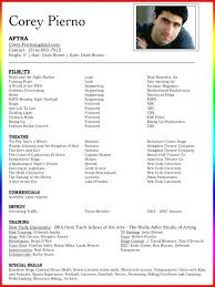 Actors Resume Simple Professional Acting Resume Template Packed With Free Actor Resume