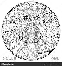 Geniaal Mandala Kleurplaten Voor Volwassenen Uil Klupaatswebsite
