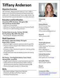 English Resume Samples Teach English Online How To Create A Killer Resume