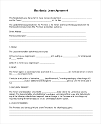 free lease agreement forms to print printable lease agreement form sample 10 free documents in doc pdf