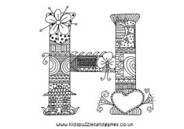 Coloring pages for kids alphabet coloring pages upper case, lower case and cursive. H Mindful Colouring Sheet Kids Puzzles And Games